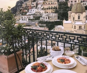 dinner, holiday, and positano image