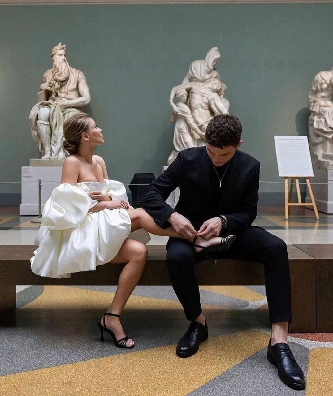 couple, museum, and love image