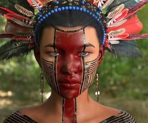 digital artwork, abilio fernandez, and aztec warrior woman image