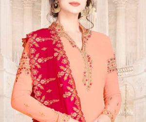 suit, sharara suit, and salwar kameez image