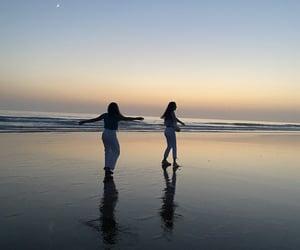 beach, art, and calm image