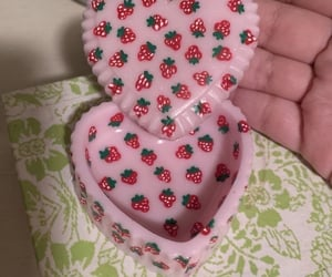 heart, pink, and strawberry image