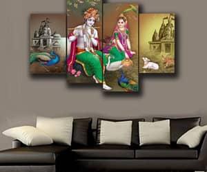canvas art, radha krishna, and canvas wall art image