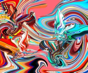abstract, art, and paintings image