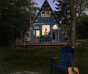 architecture, cabin, and cozy image