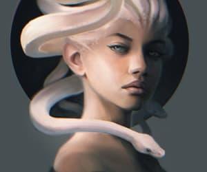 art, mythology, and gorgon image