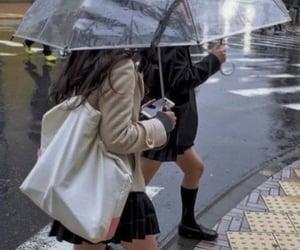 aesthetic, rain, and girl image