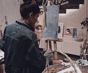 art, beauty, and bun image