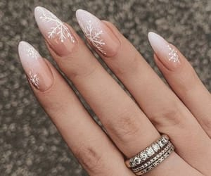 trendy, almond, and nails image