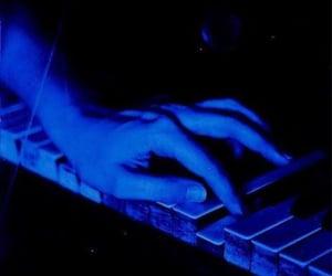 blue, dark blue, and piano image