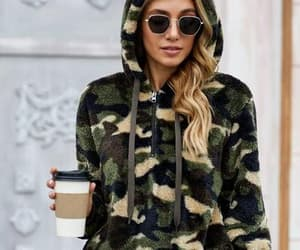 camouflage, fall, and girl image