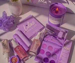 lilac, make up, and makeup image