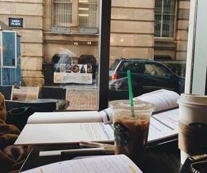 coffee, study, and starbucks image