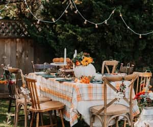fall, table, and autumn image