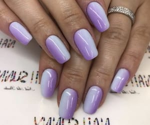 blue and purple ombre nail