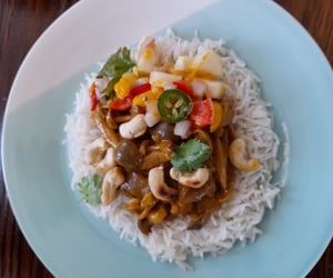 vegetarian, curry, and delicious image
