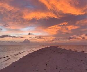 beach, inspo, and dawn image
