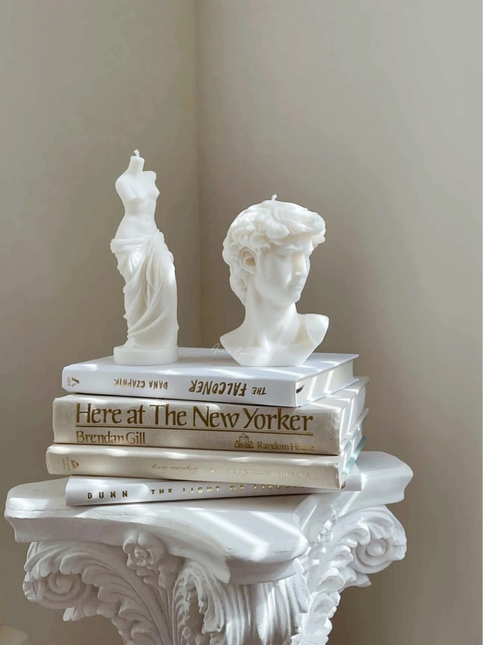 book, white, and candles image