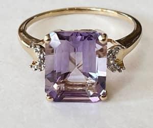etsy, sapphire jewelry, and white topaz stones image
