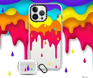 accessories, rainbow, and iphone case image