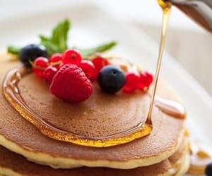 pancakes, food, and berries image