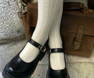 doll shoes, knee socks, and legs image
