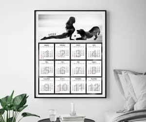 golden retriever, calendars, and etsy image