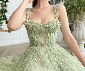 dress, gown, and green image