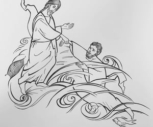 Catholic, painting, and christus image