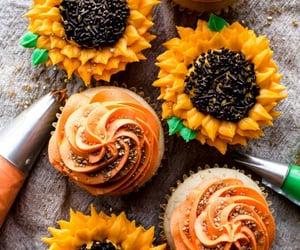 cupcake and sunflowers image