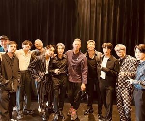 bts, coldplay, and jin image