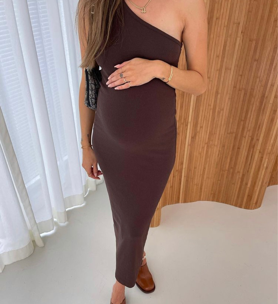 long dress, pregnancy, and pregnant image