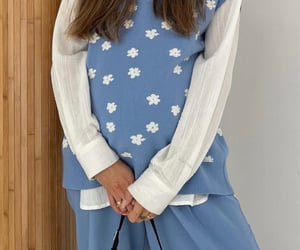 pregnancy, fashionista fashionable, and blue sweater vest image