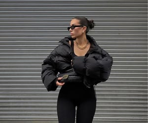 black leggings, fashionista fashionable, and outfit of the day ootd image