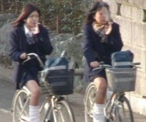 bike, boarding school, and girls image
