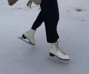 ice, aesthetic, and figure skating image