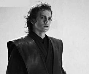 Anakin Skywalker, black and white, and hayden christensen image