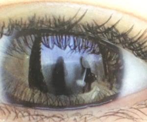 art, eye, and goth image