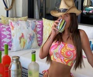 bikini, drinks, and fashion image
