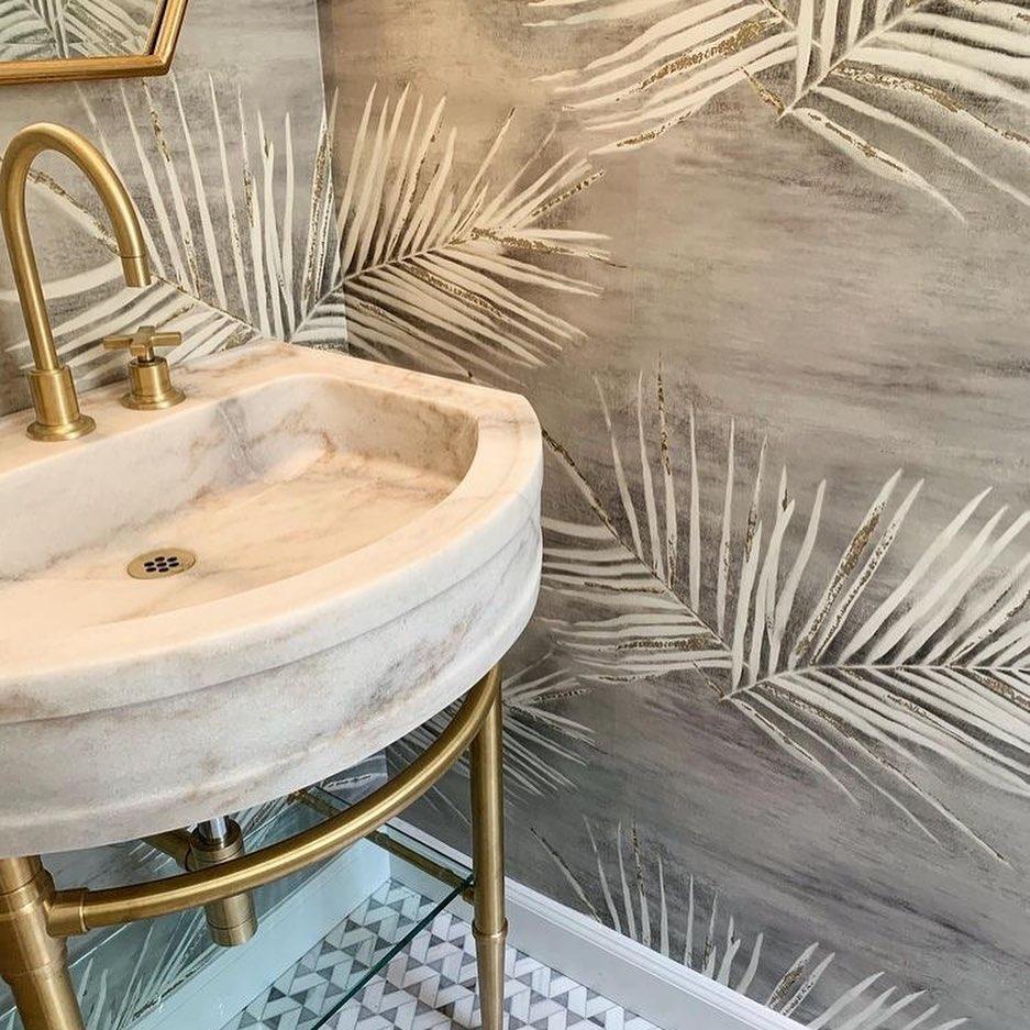 bathroom, Blanc, and golden image