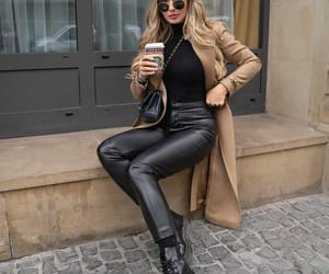 beige, fashion, and black image