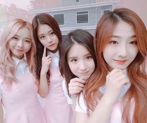 pink, loona, and heejin image