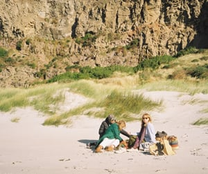 35mm, beach, and hippie image