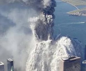 attack, explosion, and september 11th image