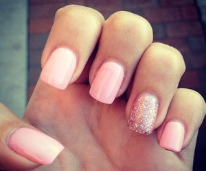 nails, pink, and glitter image