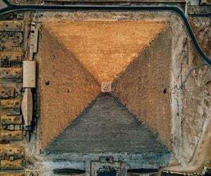 above, pyramids, and sand image