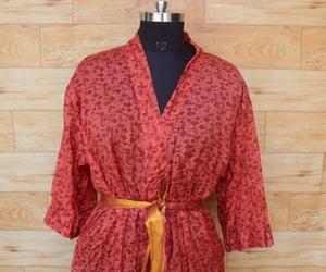 bathrobe, floral robes, and festival kimono image