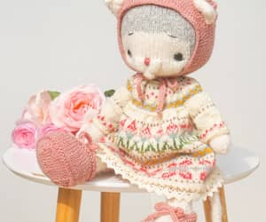 color pastel, knitted toys, and etsy image