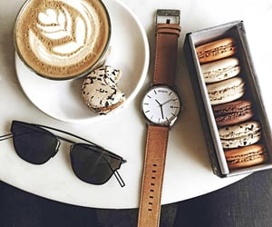 biscuits, sun glasses, and coffee image