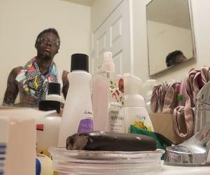 bathroom, black boy, and boy image